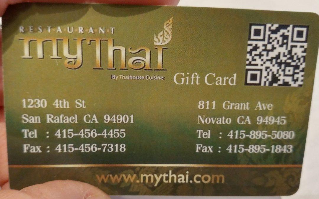 My Thai Restaurant Gift Card