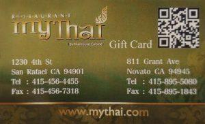 My Thai - Gift Card
