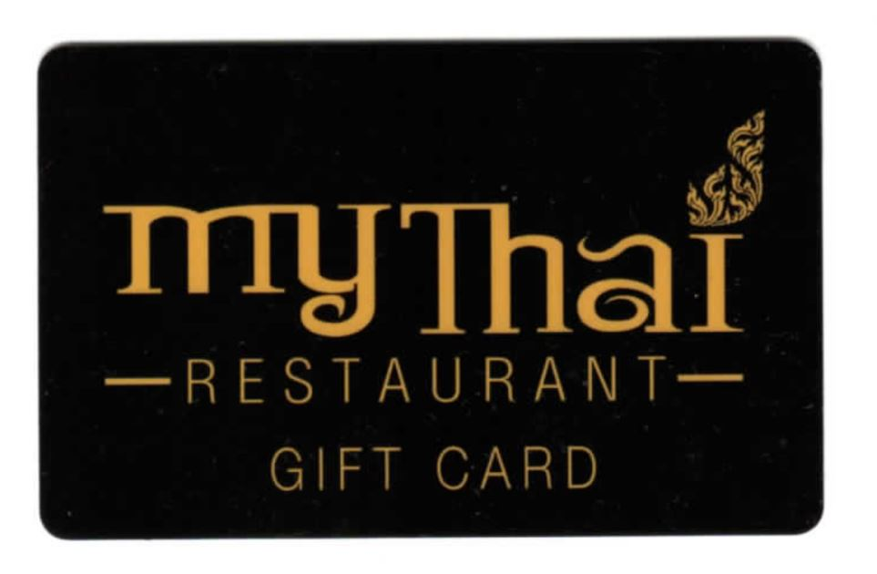 My Thai Gift Card promotion at My Thai San Rafael