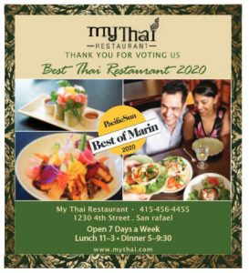 My Thai - Pacific Sun Best of Marin 2020 - Best Thai restaurant