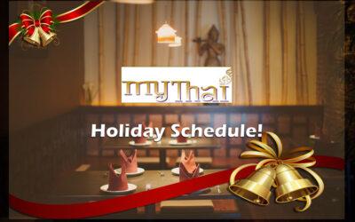 My Thai Holiday Schedule