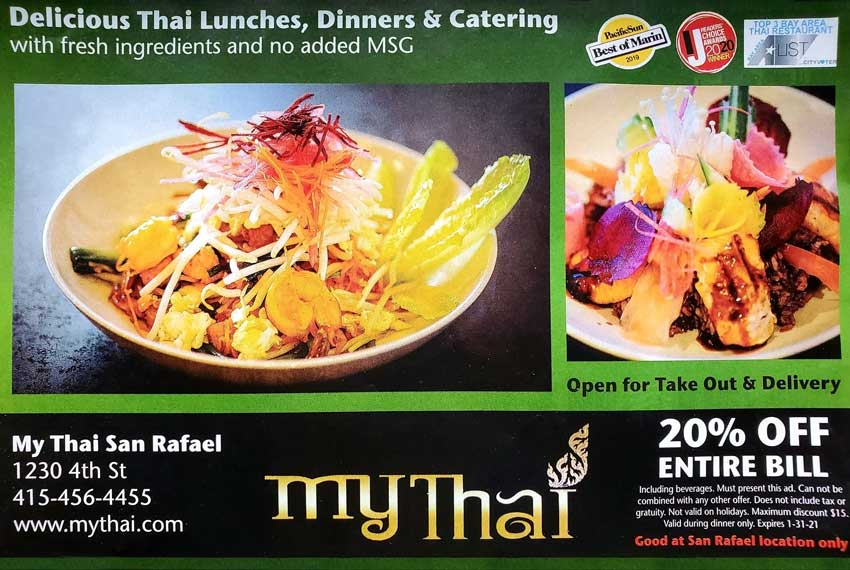 My Thai - 20% Off Entire Bill - Ad