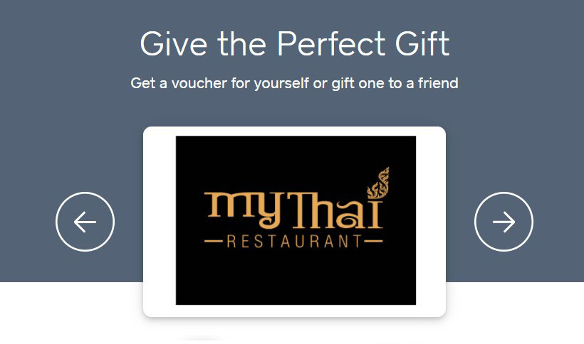 My Thai Gift Cards and E-Gift Cards - E Card and texts.